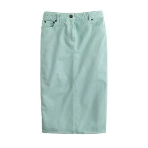 J. CREW High-Waisted Pencil Skirt in Mint Green 26